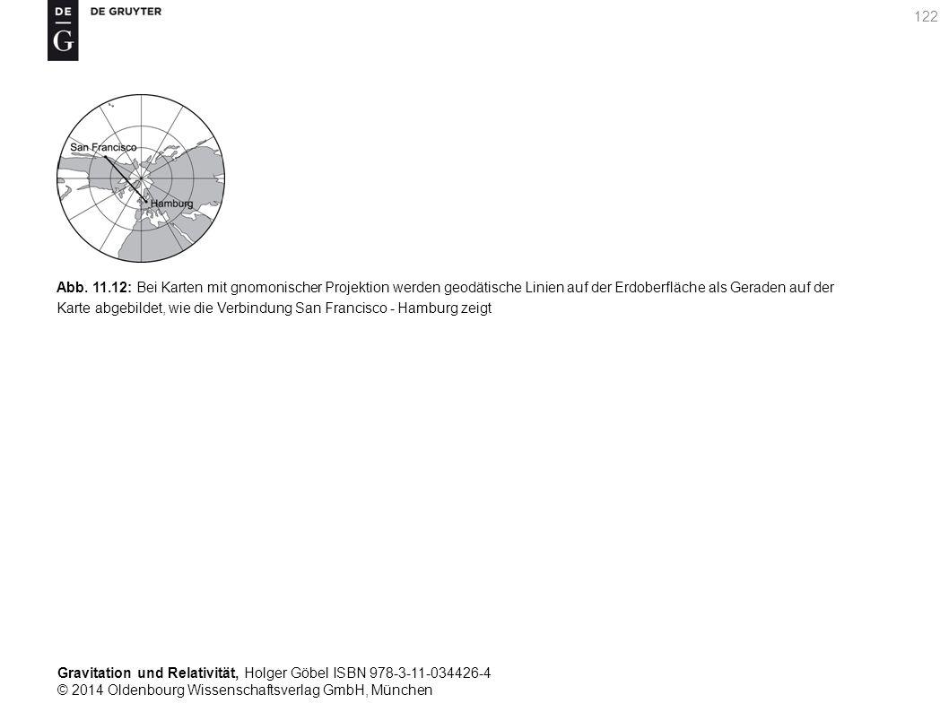 Gravitation und Relativität, Holger Göbel ISBN 978-3-11-034426-4 © 2014 Oldenbourg Wissenschaftsverlag GmbH, München 122 Abb. 11.12: Bei Karten mit gn
