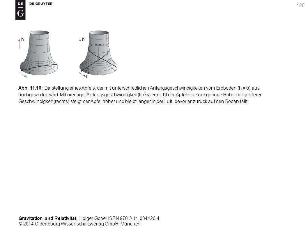 Gravitation und Relativität, Holger Göbel ISBN 978-3-11-034426-4 © 2014 Oldenbourg Wissenschaftsverlag GmbH, München 126 Abb. 11.16: Darstellung eines