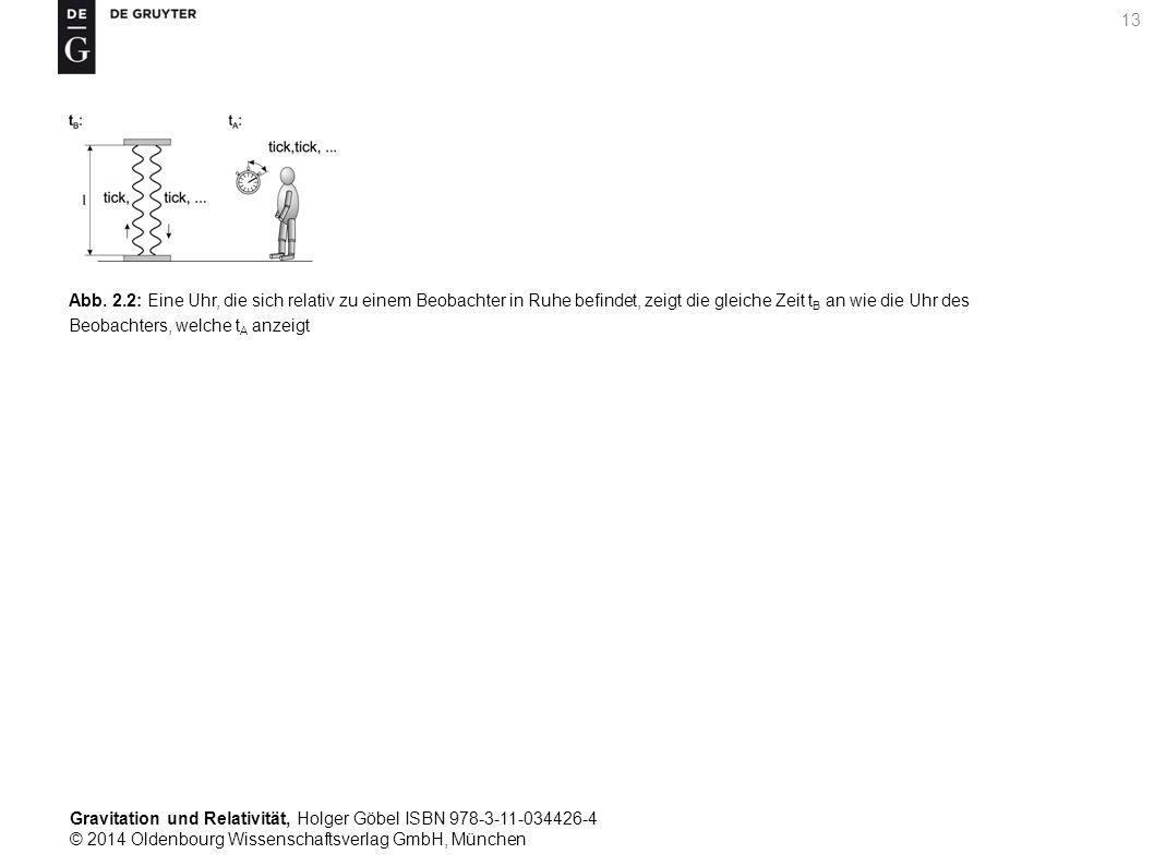 Gravitation und Relativität, Holger Göbel ISBN 978-3-11-034426-4 © 2014 Oldenbourg Wissenschaftsverlag GmbH, München 13 Abb. 2.2: Eine Uhr, die sich r