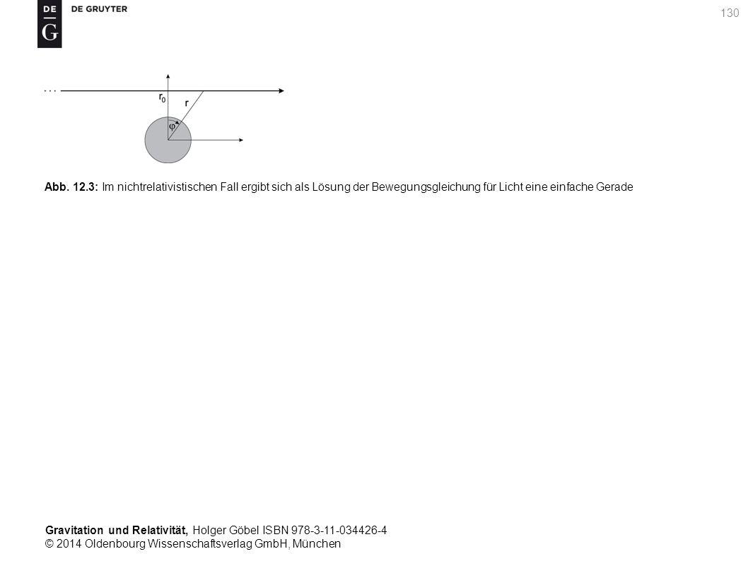 Gravitation und Relativität, Holger Göbel ISBN 978-3-11-034426-4 © 2014 Oldenbourg Wissenschaftsverlag GmbH, München 130 Abb. 12.3: Im nichtrelativist