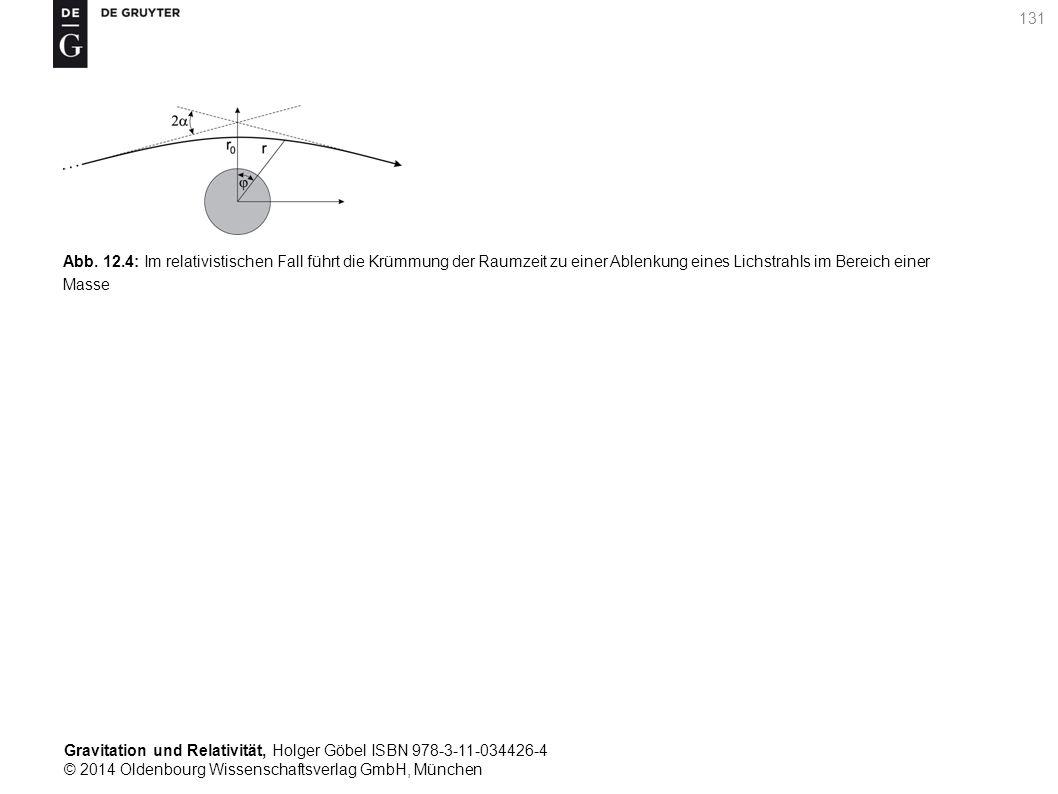 Gravitation und Relativität, Holger Göbel ISBN 978-3-11-034426-4 © 2014 Oldenbourg Wissenschaftsverlag GmbH, München 131 Abb. 12.4: Im relativistische