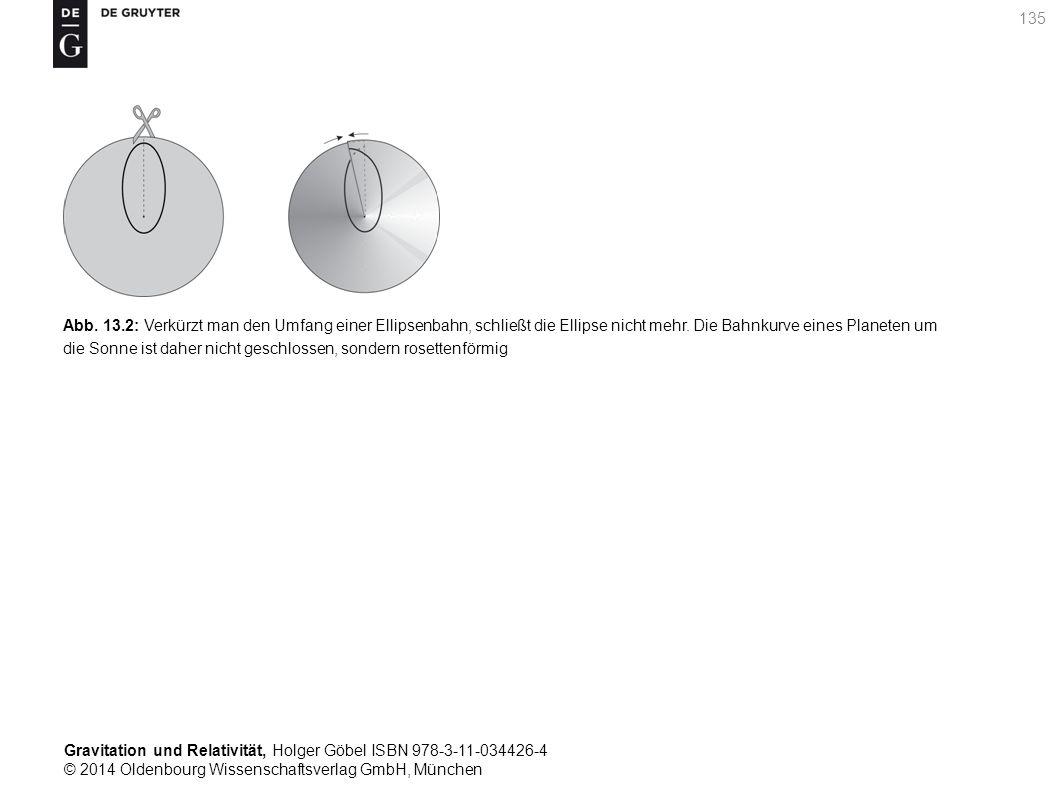 Gravitation und Relativität, Holger Göbel ISBN 978-3-11-034426-4 © 2014 Oldenbourg Wissenschaftsverlag GmbH, München 135 Abb. 13.2: Verkürzt man den U