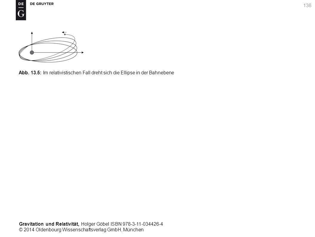 Gravitation und Relativität, Holger Göbel ISBN 978-3-11-034426-4 © 2014 Oldenbourg Wissenschaftsverlag GmbH, München 138 Abb. 13.5: Im relativistische