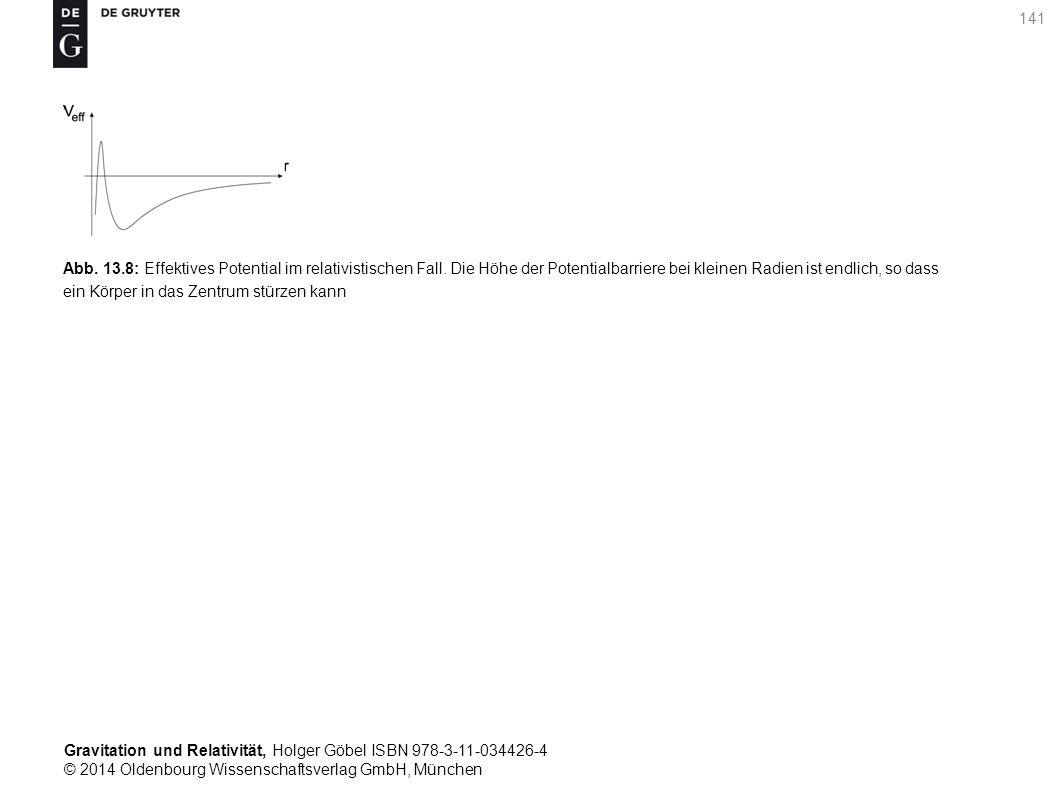 Gravitation und Relativität, Holger Göbel ISBN 978-3-11-034426-4 © 2014 Oldenbourg Wissenschaftsverlag GmbH, München 141 Abb. 13.8: Effektives Potenti