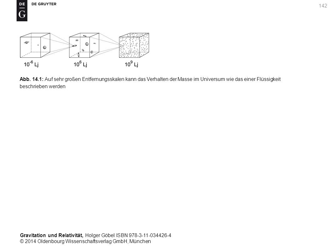 Gravitation und Relativität, Holger Göbel ISBN 978-3-11-034426-4 © 2014 Oldenbourg Wissenschaftsverlag GmbH, München 142 Abb. 14.1: Auf sehr großen En
