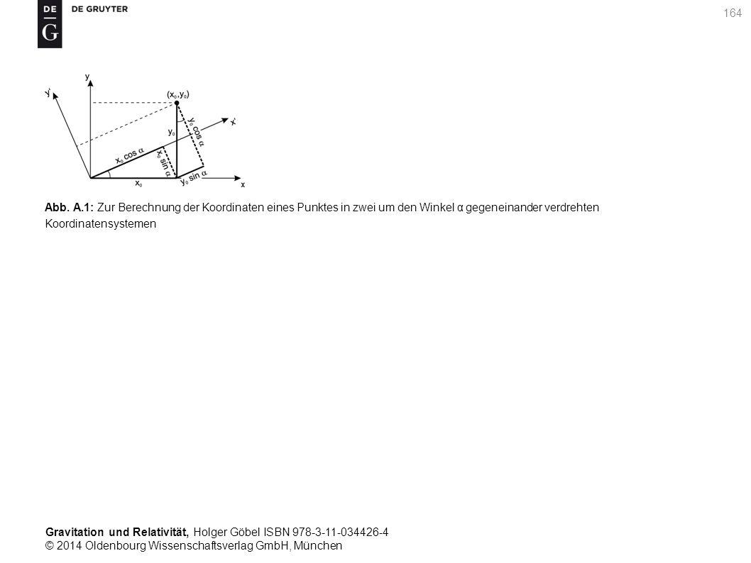 Gravitation und Relativität, Holger Göbel ISBN 978-3-11-034426-4 © 2014 Oldenbourg Wissenschaftsverlag GmbH, München 164 Abb. A.1: Zur Berechnung der