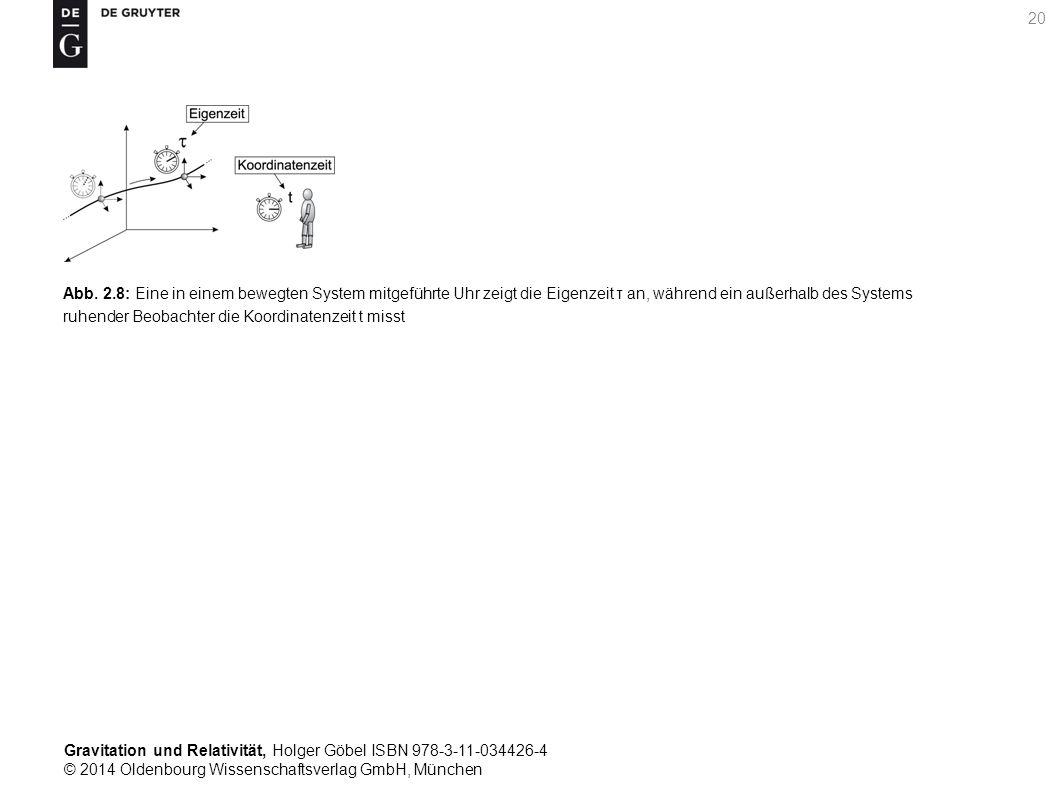 Gravitation und Relativität, Holger Göbel ISBN 978-3-11-034426-4 © 2014 Oldenbourg Wissenschaftsverlag GmbH, München 20 Abb. 2.8: Eine in einem bewegt