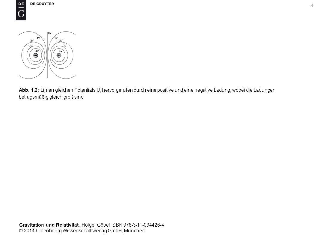 Gravitation und Relativität, Holger Göbel ISBN 978-3-11-034426-4 © 2014 Oldenbourg Wissenschaftsverlag GmbH, München 4 Abb. 1.2: Linien gleichen Poten