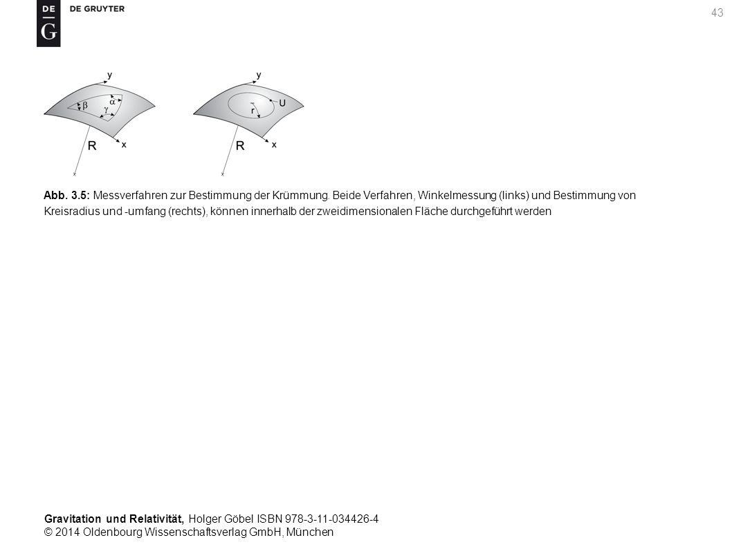 Gravitation und Relativität, Holger Göbel ISBN 978-3-11-034426-4 © 2014 Oldenbourg Wissenschaftsverlag GmbH, München 43 Abb. 3.5: Messverfahren zur Be