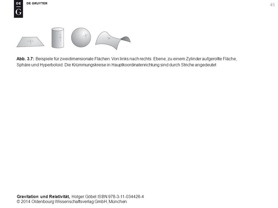 Gravitation und Relativität, Holger Göbel ISBN 978-3-11-034426-4 © 2014 Oldenbourg Wissenschaftsverlag GmbH, München 45 Abb. 3.7: Beispiele für zweidi