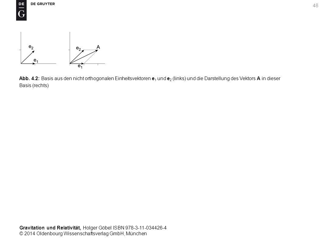Gravitation und Relativität, Holger Göbel ISBN 978-3-11-034426-4 © 2014 Oldenbourg Wissenschaftsverlag GmbH, München 48 Abb. 4.2: Basis aus den nicht