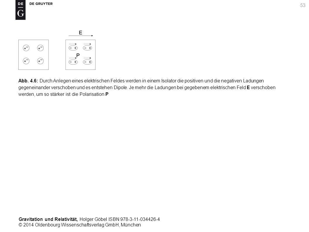 Gravitation und Relativität, Holger Göbel ISBN 978-3-11-034426-4 © 2014 Oldenbourg Wissenschaftsverlag GmbH, München 53 Abb. 4.6: Durch Anlegen eines