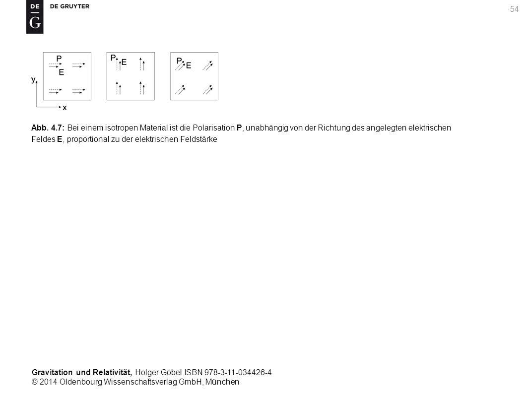 Gravitation und Relativität, Holger Göbel ISBN 978-3-11-034426-4 © 2014 Oldenbourg Wissenschaftsverlag GmbH, München 54 Abb. 4.7: Bei einem isotropen