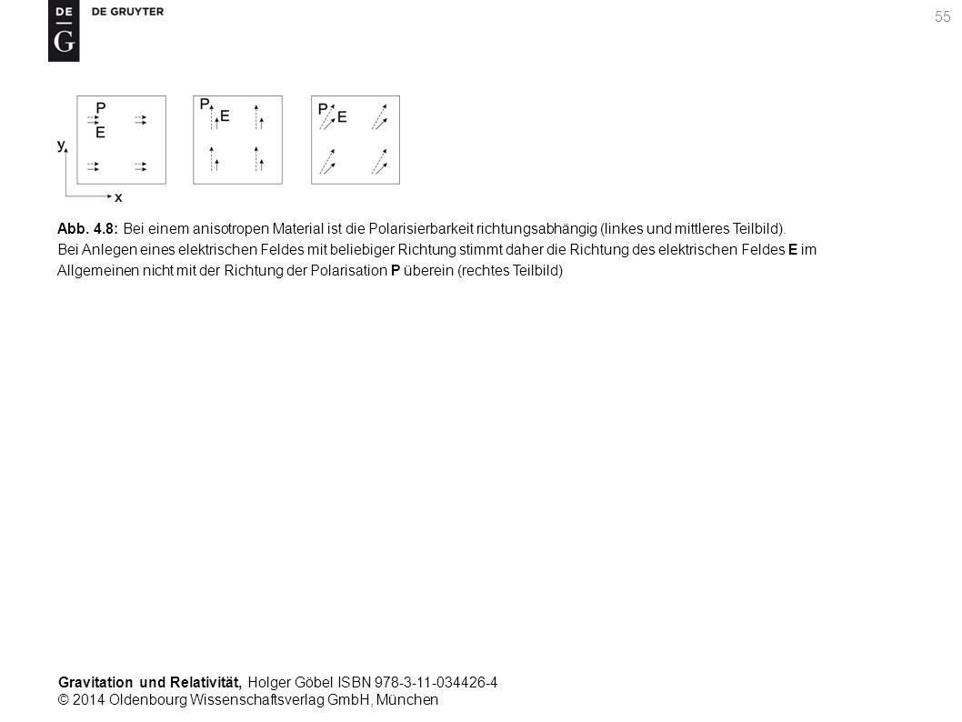 Gravitation und Relativität, Holger Göbel ISBN 978-3-11-034426-4 © 2014 Oldenbourg Wissenschaftsverlag GmbH, München 55 Abb. 4.8: Bei einem anisotrope