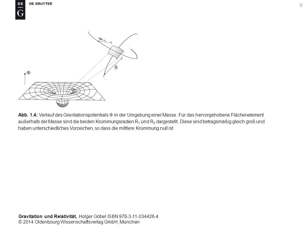 Gravitation und Relativität, Holger Göbel ISBN 978-3-11-034426-4 © 2014 Oldenbourg Wissenschaftsverlag GmbH, München 6 Abb. 1.4: Verlauf des Gravitati