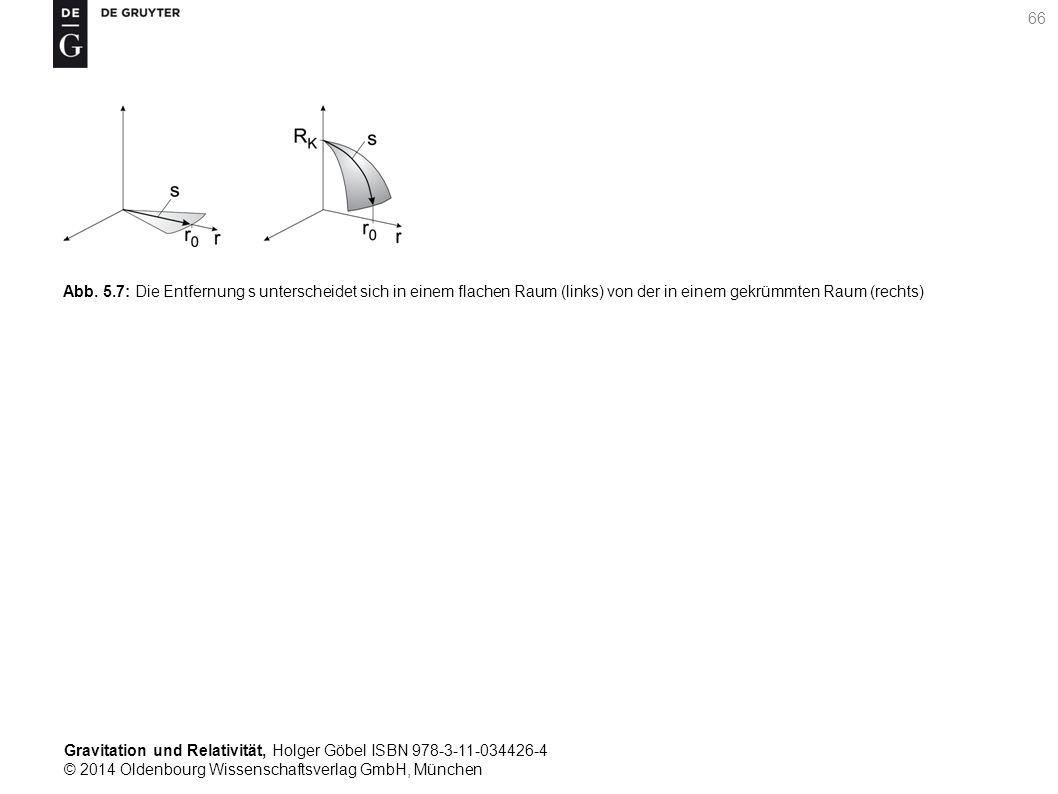 Gravitation und Relativität, Holger Göbel ISBN 978-3-11-034426-4 © 2014 Oldenbourg Wissenschaftsverlag GmbH, München 66 Abb. 5.7: Die Entfernung s unt