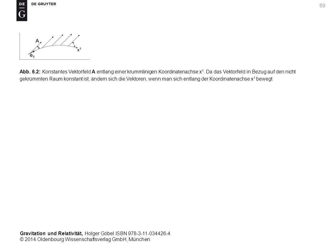 Gravitation und Relativität, Holger Göbel ISBN 978-3-11-034426-4 © 2014 Oldenbourg Wissenschaftsverlag GmbH, München 69 Abb. 6.2: Konstantes Vektorfel