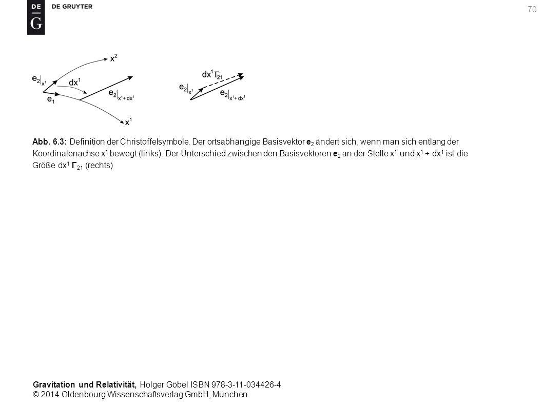 Gravitation und Relativität, Holger Göbel ISBN 978-3-11-034426-4 © 2014 Oldenbourg Wissenschaftsverlag GmbH, München 70 Abb. 6.3: Definition der Chris