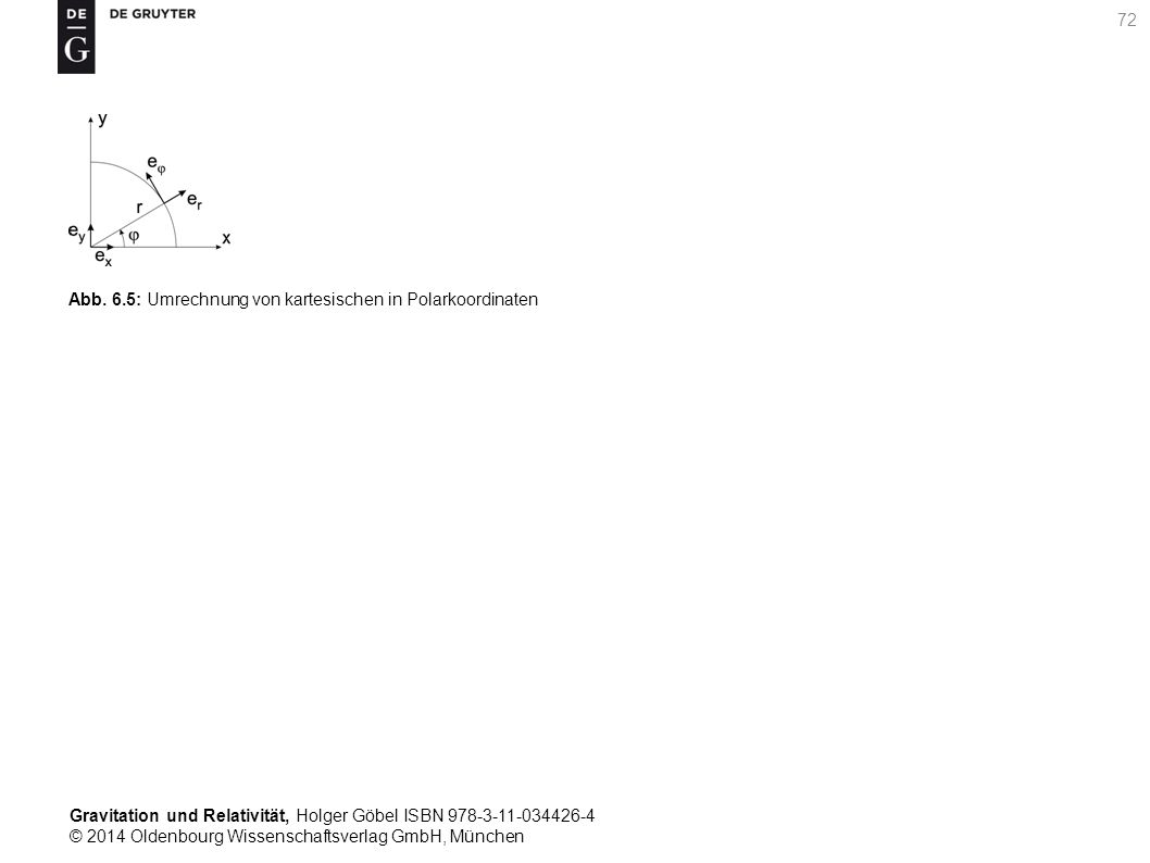 Gravitation und Relativität, Holger Göbel ISBN 978-3-11-034426-4 © 2014 Oldenbourg Wissenschaftsverlag GmbH, München 72 Abb. 6.5: Umrechnung von karte