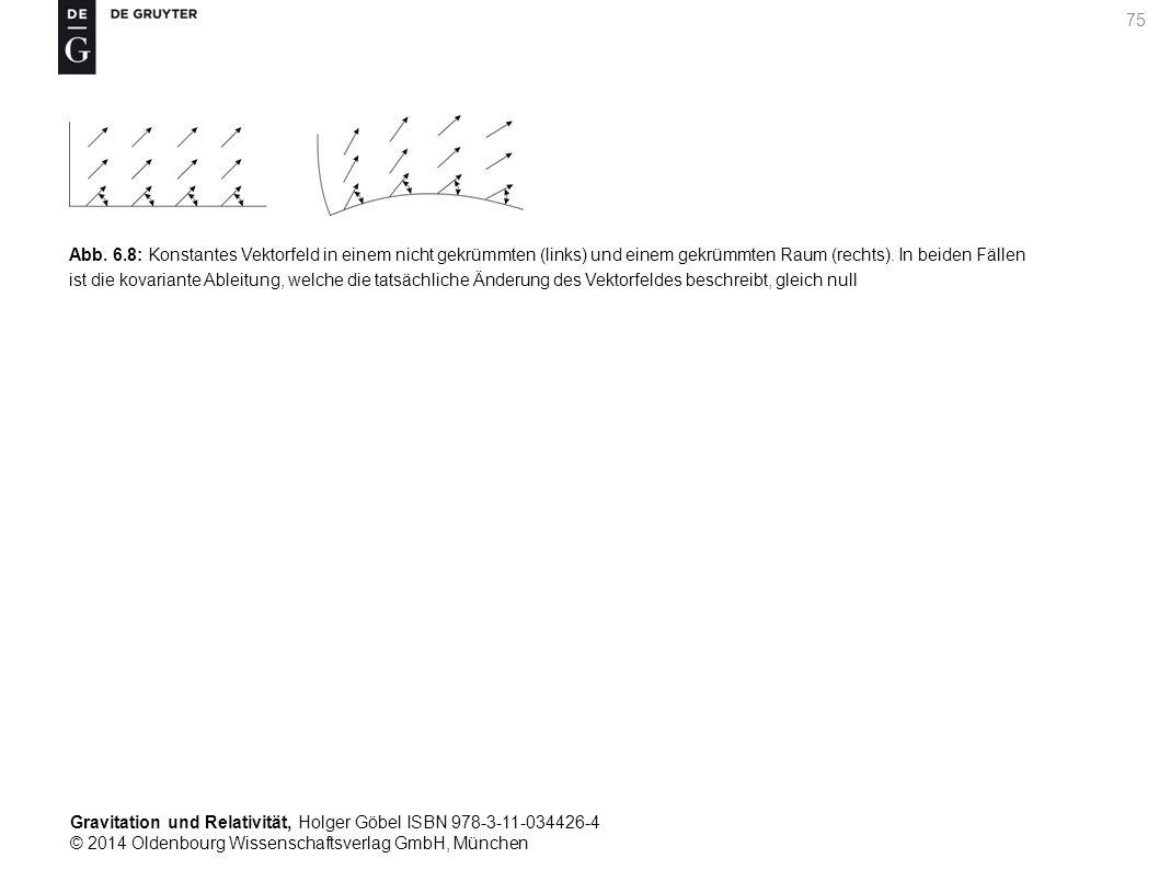 Gravitation und Relativität, Holger Göbel ISBN 978-3-11-034426-4 © 2014 Oldenbourg Wissenschaftsverlag GmbH, München 75 Abb. 6.8: Konstantes Vektorfel