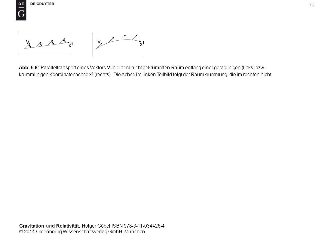 Gravitation und Relativität, Holger Göbel ISBN 978-3-11-034426-4 © 2014 Oldenbourg Wissenschaftsverlag GmbH, München 76 Abb. 6.9: Paralleltransport ei