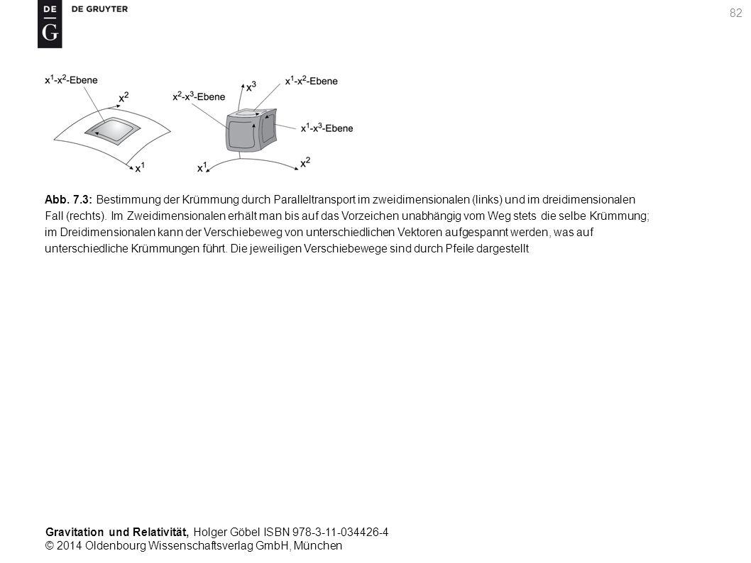 Gravitation und Relativität, Holger Göbel ISBN 978-3-11-034426-4 © 2014 Oldenbourg Wissenschaftsverlag GmbH, München 82 Abb. 7.3: Bestimmung der Krümm
