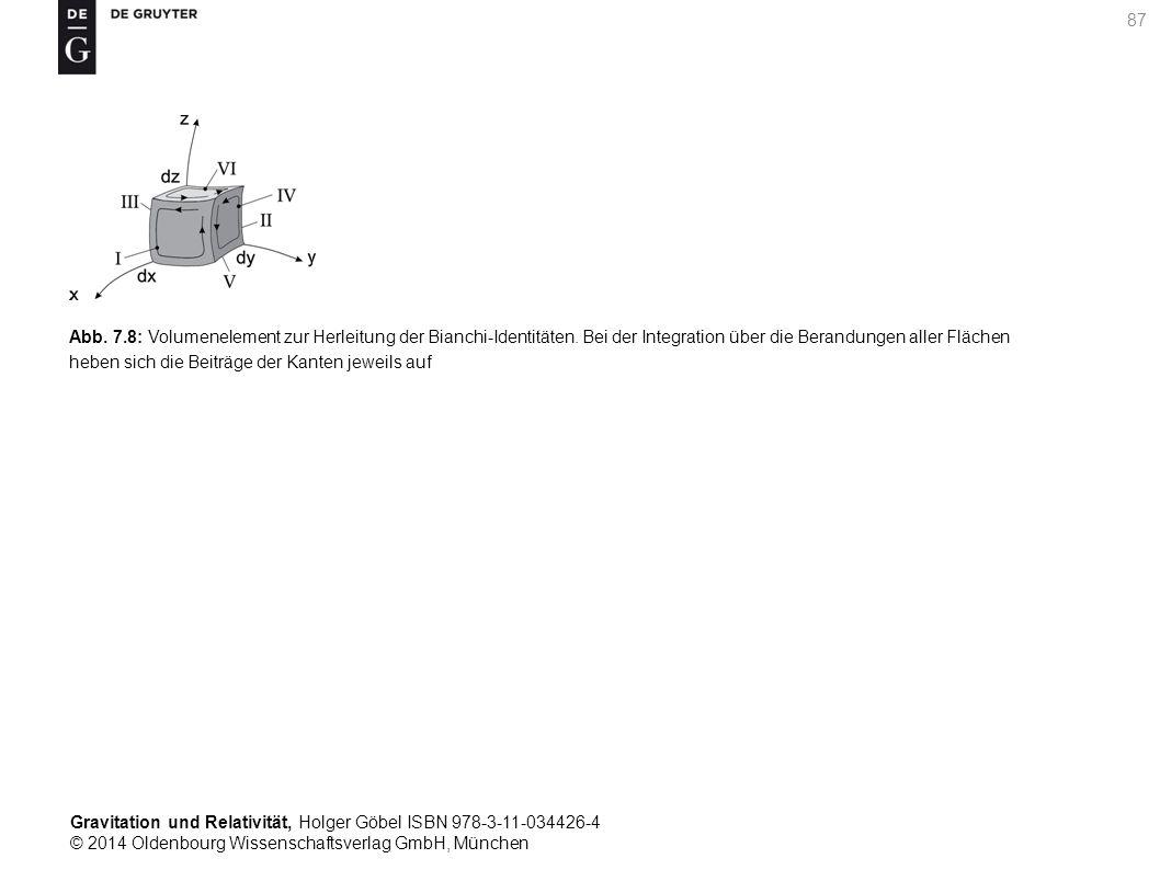 Gravitation und Relativität, Holger Göbel ISBN 978-3-11-034426-4 © 2014 Oldenbourg Wissenschaftsverlag GmbH, München 87 Abb. 7.8: Volumenelement zur H
