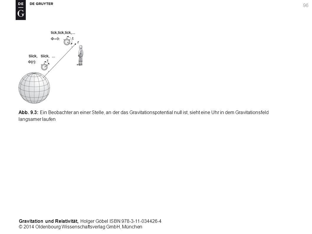 Gravitation und Relativität, Holger Göbel ISBN 978-3-11-034426-4 © 2014 Oldenbourg Wissenschaftsverlag GmbH, München 96 Abb. 9.3: Ein Beobachter an ei