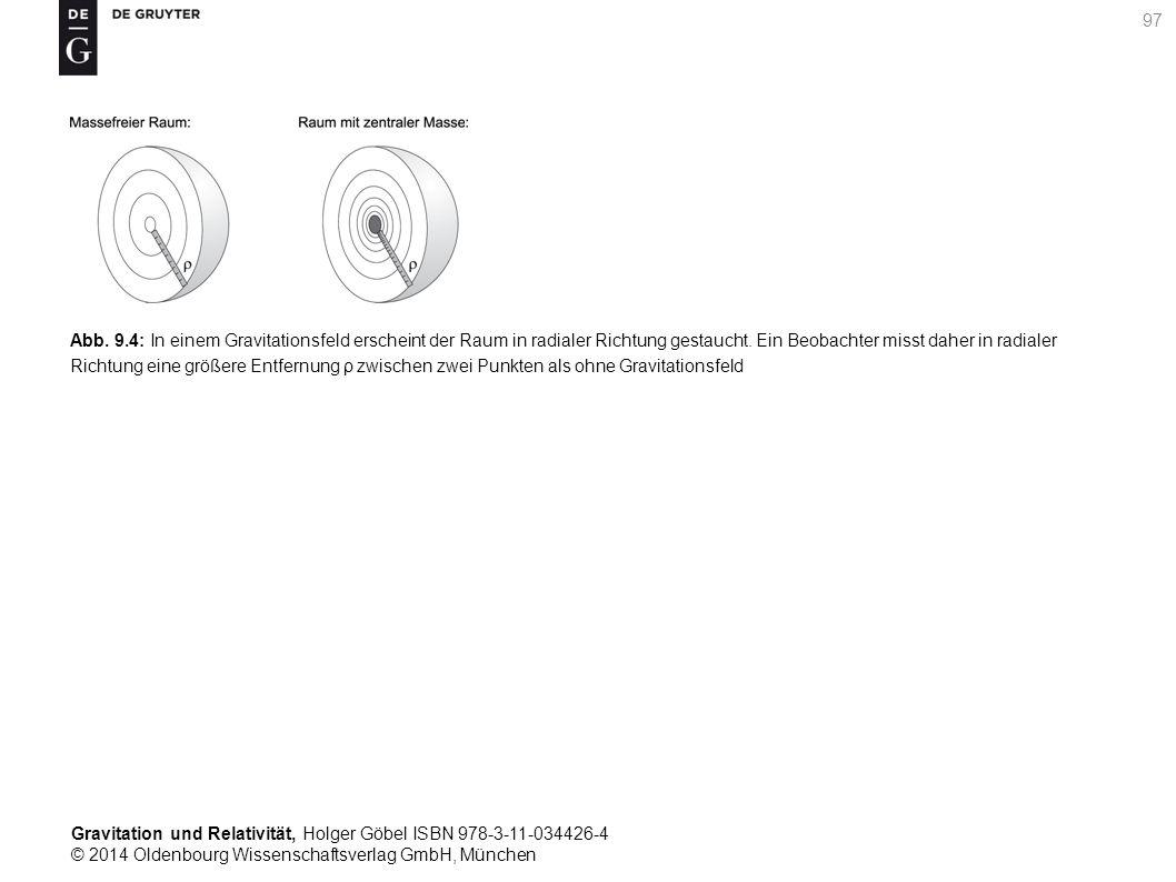 Gravitation und Relativität, Holger Göbel ISBN 978-3-11-034426-4 © 2014 Oldenbourg Wissenschaftsverlag GmbH, München 97 Abb. 9.4: In einem Gravitation