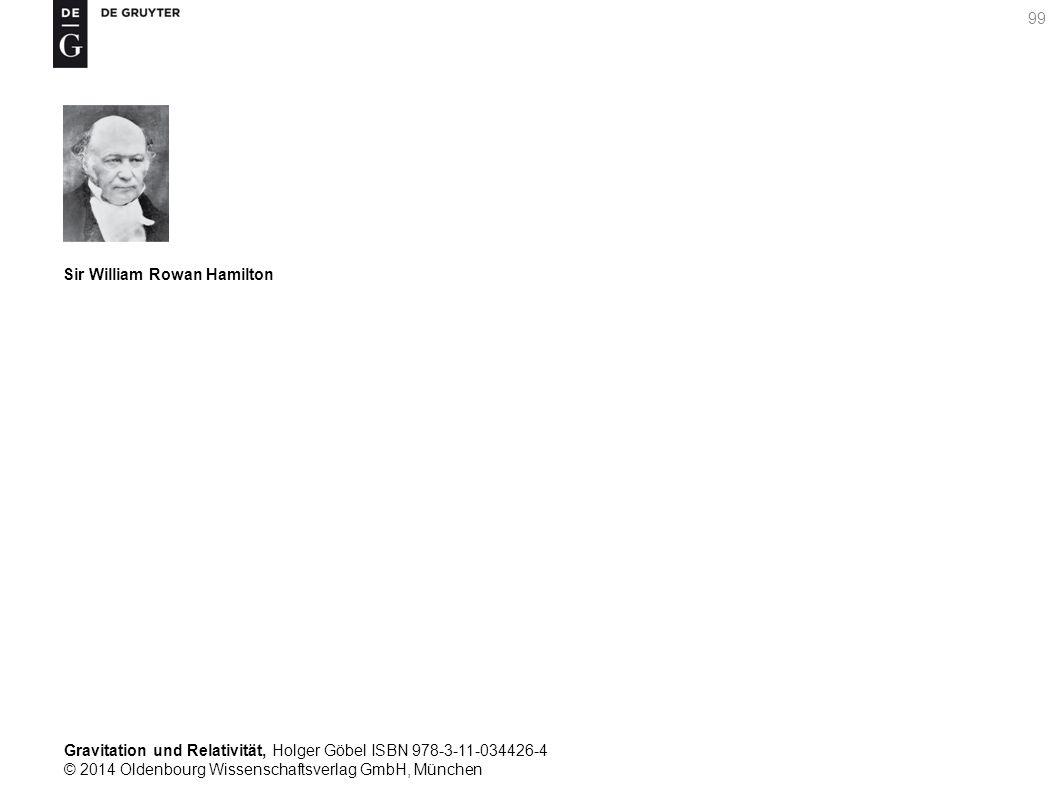 Gravitation und Relativität, Holger Göbel ISBN 978-3-11-034426-4 © 2014 Oldenbourg Wissenschaftsverlag GmbH, München 99 Sir William Rowan Hamilton