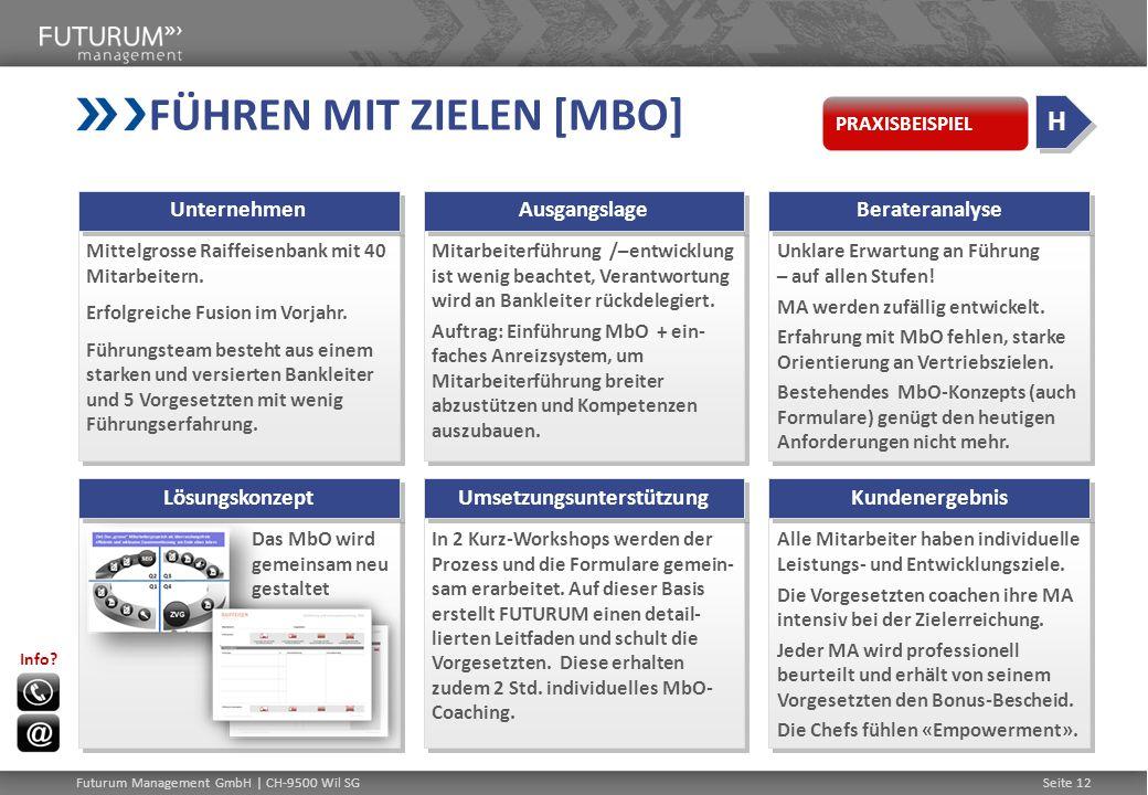 KADERTEAM-ENTWICKLUNG Abteilung Compliance einer grossen schweizerischen Bank Kurze Zeit nach Reorganisation Abteilung Compliance einer grossen schweizerischen Bank Kurze Zeit nach Reorganisation Entwicklungsprozess mit zwei Kaderworkshops innert 3 Monaten 1.