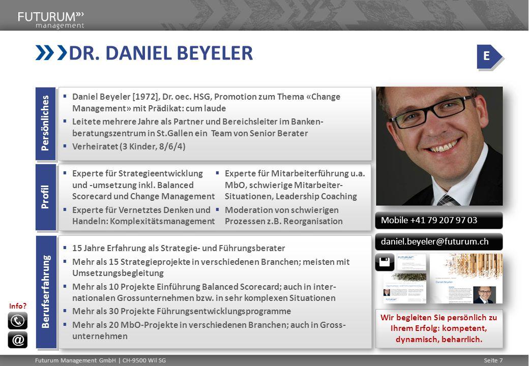 « Daniel Beyeler überzeugt durch seine praxisnahe und effiziente Arbeits- weise.