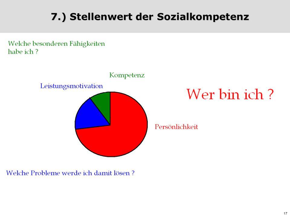 17 7.) Stellenwert der Sozialkompetenz