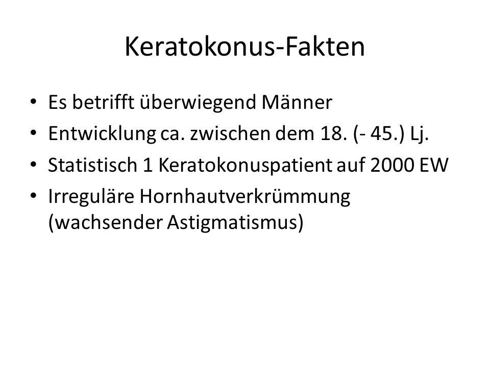 Keratokonus-Fakten Es betrifft überwiegend Männer Entwicklung ca.