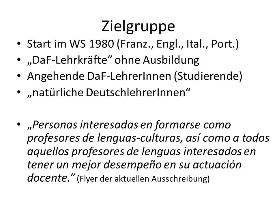 Voraussetzungen 21 Jahre, Bachillerato oder Studium B2, Spanischtest für AusländerInnen Schriftl.