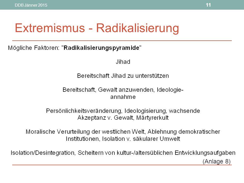 DDB Jänner 2015 11 Extremismus - Radikalisierung (Anlage 8)