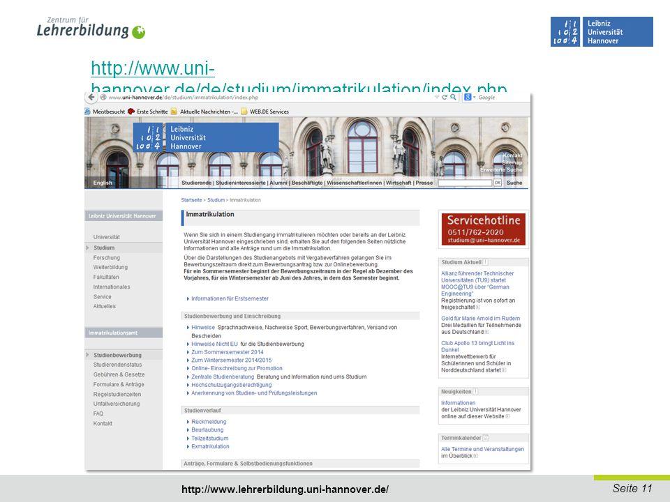 Seite 12 http://www.lehrerbildung.uni-hannover.de/ Was kann ich mit dem Fächerübergreifenden Bachelorstudiengang machen.