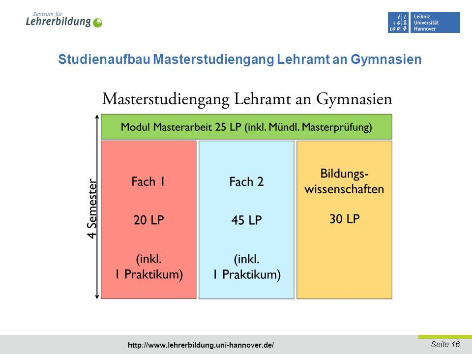 Seite 17 http://www.lehrerbildung.uni-hannover.de/ Studienvariante Kleine Fakultas für Musikstudierende - Erstfach im Master LG: Musik (35 LP + Masterarbeit) Große Fakultas (Lehrbefähigung Sek.