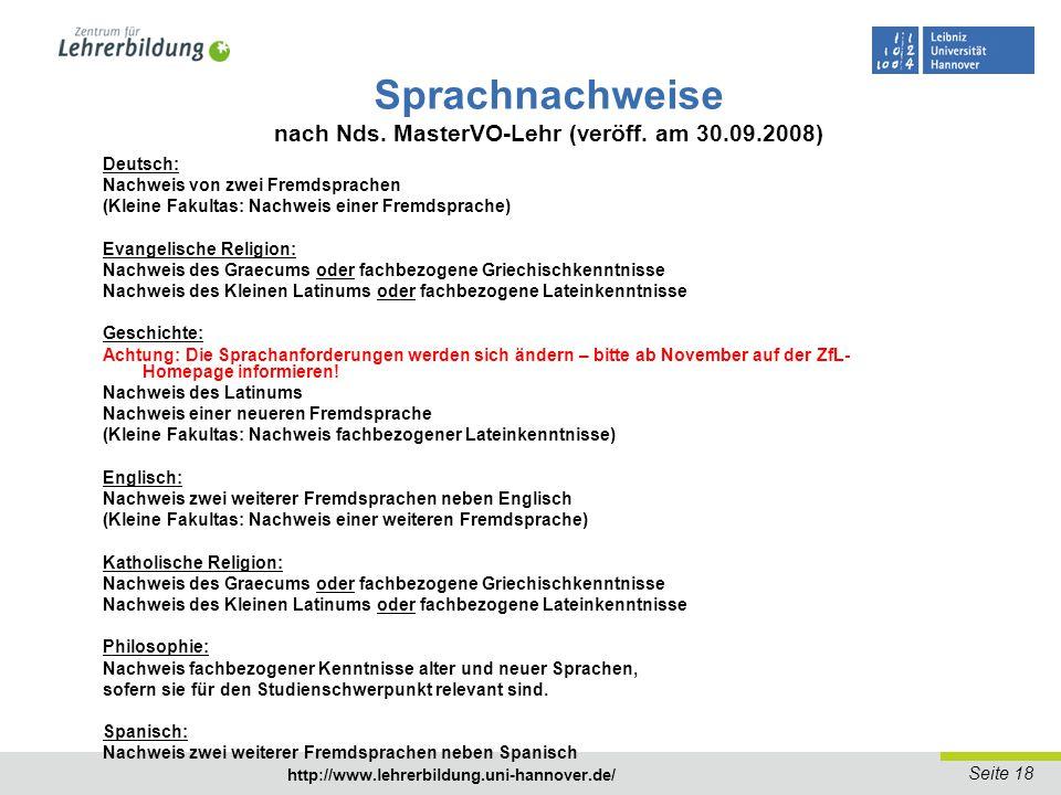 Seite 19 http://www.lehrerbildung.uni-hannover.de/ Ergänzungsstudiengang Drittes Fach LG - Im Master LG kann ein Ergänzungsfach (Große Fakultas) studiert werden.