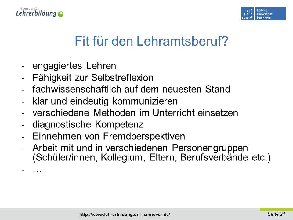 Seite 22 www.lehrerbildung.uni-hannover.de