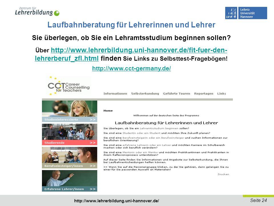 Seite 25 http://www.lehrerbildung.uni-hannover.de/