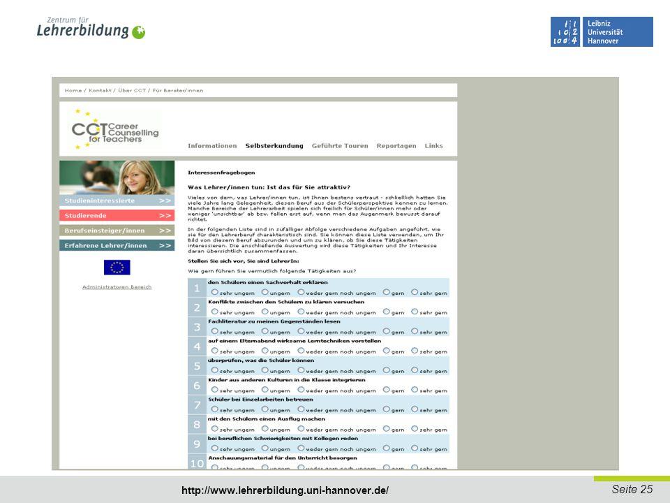 Seite 26 http://www.lehrerbildung.uni-hannover.de/ Ankündigung: Vielfalt im Klassenzimmer = Vielfalt im Lehrerzimmer.