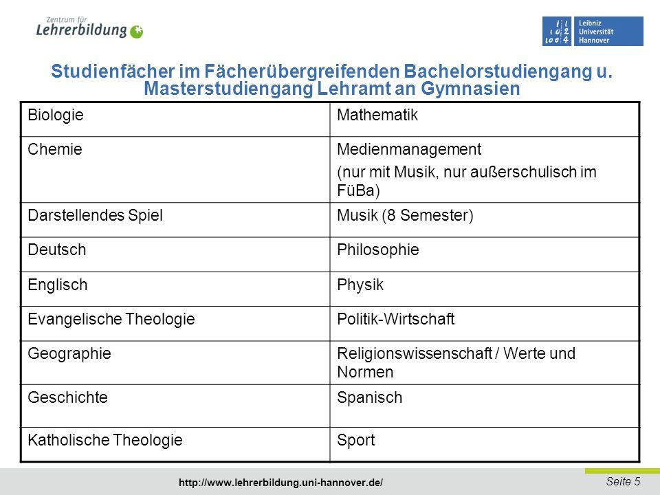 Seite 6 http://www.lehrerbildung.uni-hannover.de/ http://www.uni-hannover.de/de/studium/studienfuehrer/index.php