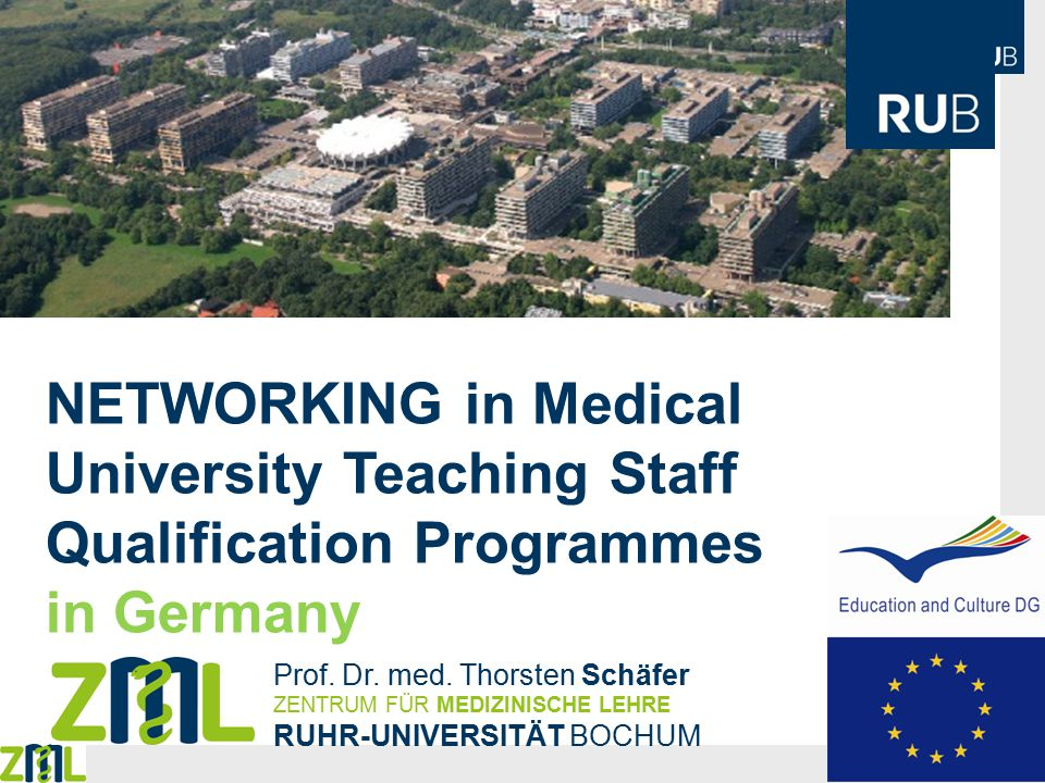 NETWORKING in Medical University Teaching Staff Qualification Programmes in Germany Prof.