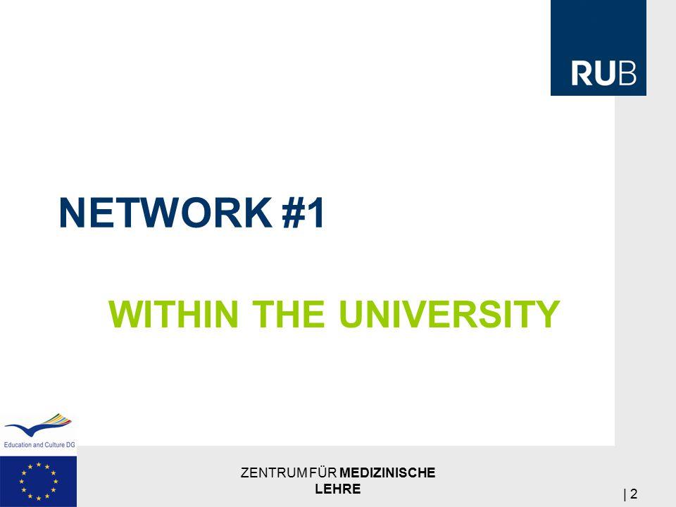 NETWORK #1 WITHIN THE UNIVERSITY ZENTRUM FÜR MEDIZINISCHE LEHRE | 2