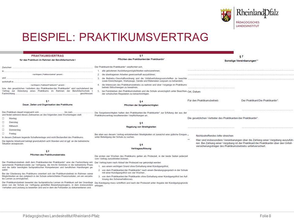 Folie 9Pädagogisches Landesinstitut Rheinland-Pfalz STRUKTUR UND INHALTE DER LEHRPLANENTWÜRFE