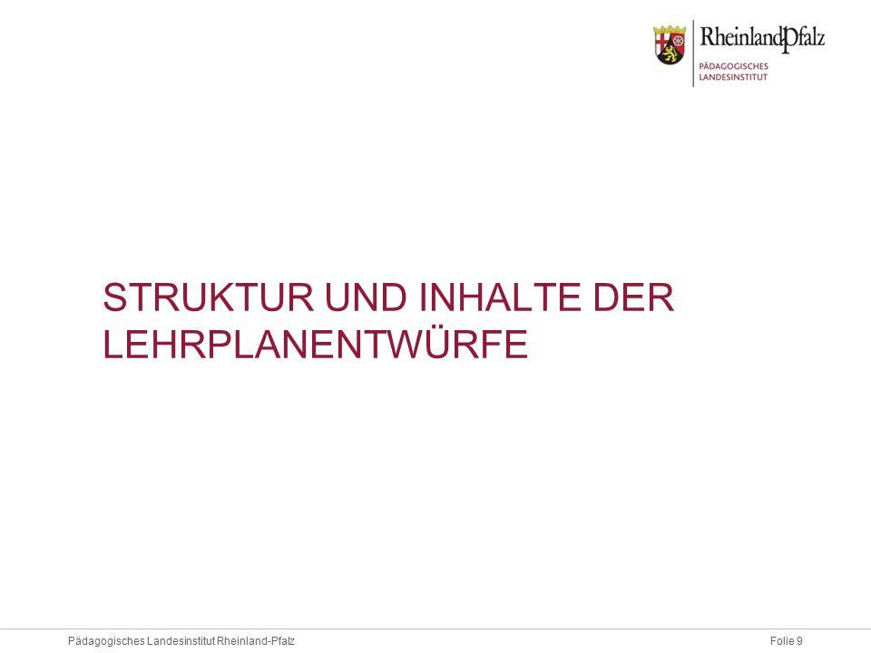 Folie 20Pädagogisches Landesinstitut Rheinland-Pfalz PRAXISMODULE 24-stündig im 2.