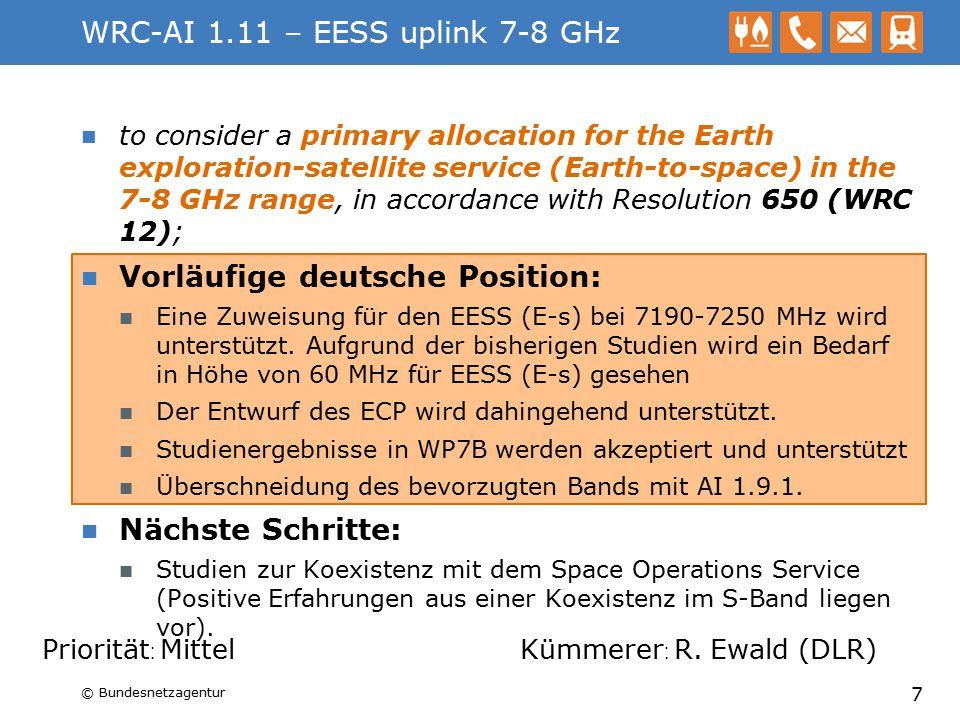 WRC-AI 1.2 – MS unter 790 MHz Lösungen für PMSE Optionen für RR 5.296 erarbeiten.