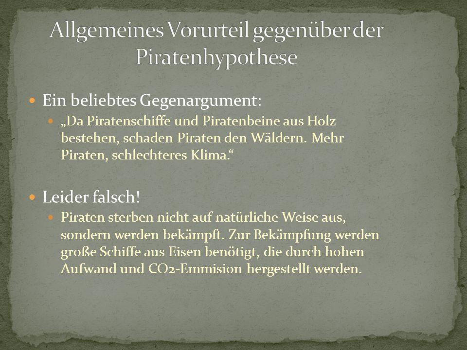 """Ein beliebtes Gegenargument: """"Da Piratenschiffe und Piratenbeine aus Holz bestehen, schaden Piraten den Wäldern."""