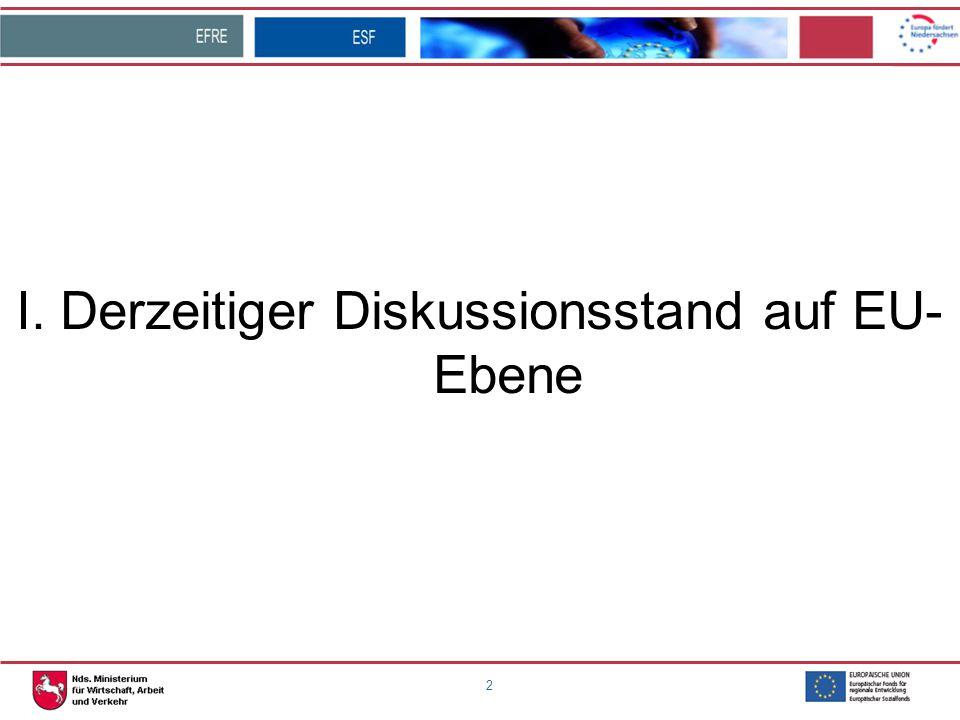 3 Derzeitiger Diskussionsstand auf EU-Ebene und Bundesebene: -Inhaltliche Öffnung der Verordnungsentwürfe (z.B.